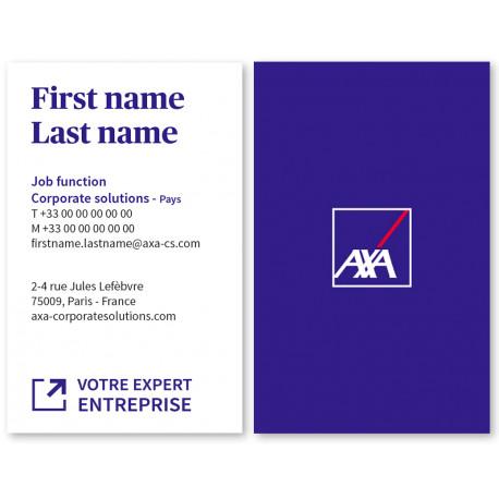 Cartes 54 x 85 Entreprise Recto/dos - Réservées exclusivement aux agents Entreprises Experts