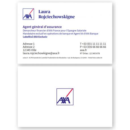 Cartes Agts 85 x 54 2020 Recto/dos
